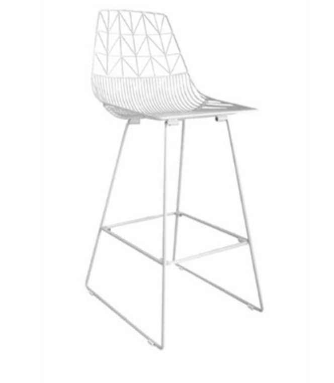 Angelo White Wire Stool Frank And Joy