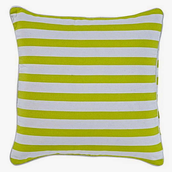 green lime striped cushion frank and joy. Black Bedroom Furniture Sets. Home Design Ideas