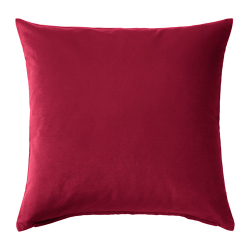 Pink raspberry velvet cushion frank and joy for Housse de coussin 35x35